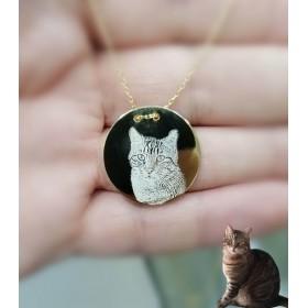Evcil Hayvan Resim Kolye Gümüş