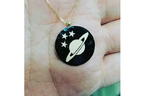 Satürn Kolye Gümüş