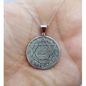 Süleymanın Mührü Gümüş Kolye